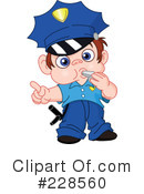Royalty-Free (RF) Police Clipart Illustration #228560