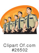 Royalty-Free (RF) Police Clipart Illustration #26502