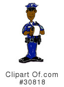Royalty-Free (RF) Police Clipart Illustration #30818
