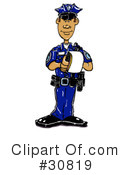 Royalty-Free (RF) Police Clipart Illustration #30819