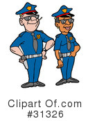 Police Clipart #31326 by LaffToon
