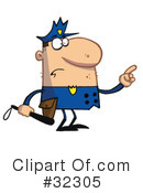 Royalty-Free (RF) Police Clipart Illustration #32305
