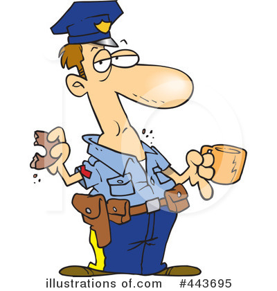 Royalty-Free (RF) Police Clipart Illustration by Ron Leishman - Stock Sample #443695