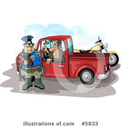 Royalty-Free (RF) Police Clipart Illustration by Dennis Cox - Stock Sample #5833