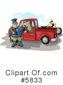 Royalty-Free (RF) Police Clipart Illustration #5833