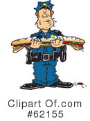 Royalty-Free (RF) Police Clipart Illustration #62155