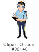 Royalty-Free (RF) Police Clipart Illustration #92140