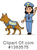 Royalty-Free (RF) Police Dog Clipart Illustration #1363575