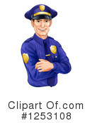 Royalty-Free (RF) Police Man Clipart Illustration #1253108