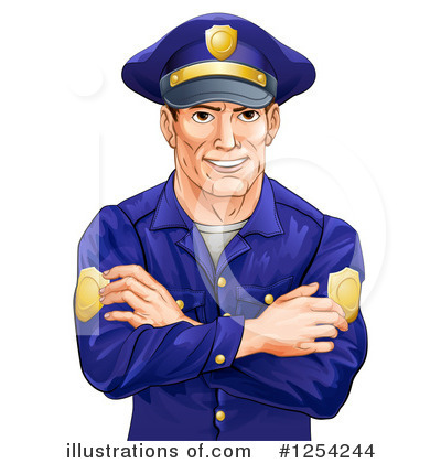 Police Man Clipart #1254244 by AtStockIllustration