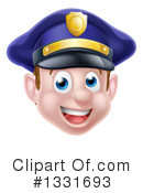 Royalty-Free (RF) Police Man Clipart Illustration #1331693