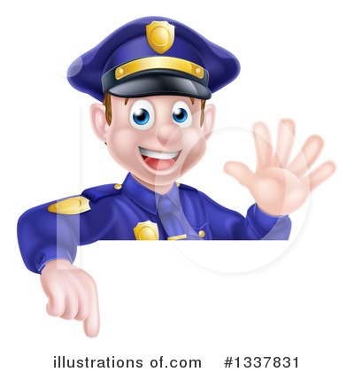 Police Officer Clipart #1337831 by AtStockIllustration