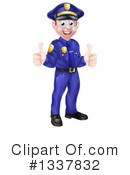 Royalty-Free (RF) Police Man Clipart Illustration #1337832