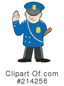 Royalty-Free (RF) Police Man Clipart Illustration #214256