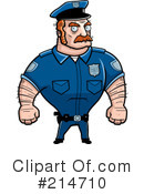 Royalty-Free (RF) Police Man Clipart Illustration #214710
