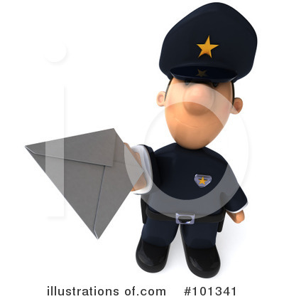 Police Toon Guy Clipart #101341 by Julos