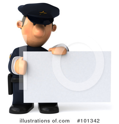 Police Toon Guy Clipart #101342 by Julos