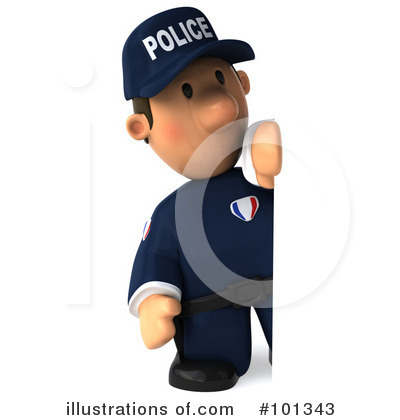 Police Toon Guy Clipart #101343 by Julos