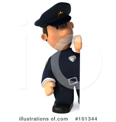 Police Toon Guy Clipart #101344 by Julos