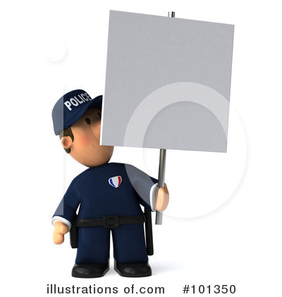 Police Toon Guy Clipart #101350 by Julos