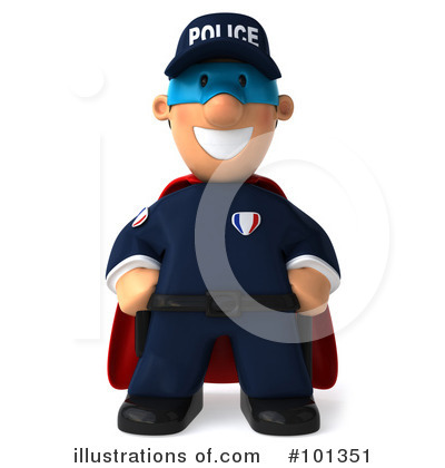Police Toon Guy Clipart #101351 by Julos