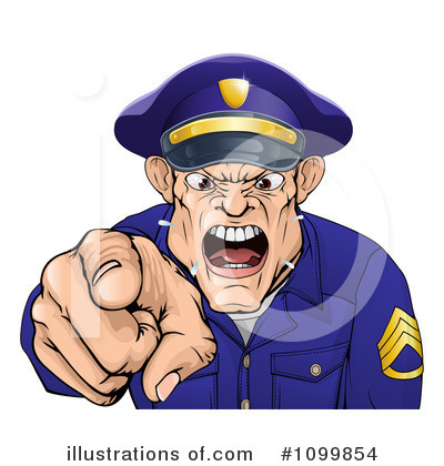 Police Man Clipart #1099854 by AtStockIllustration