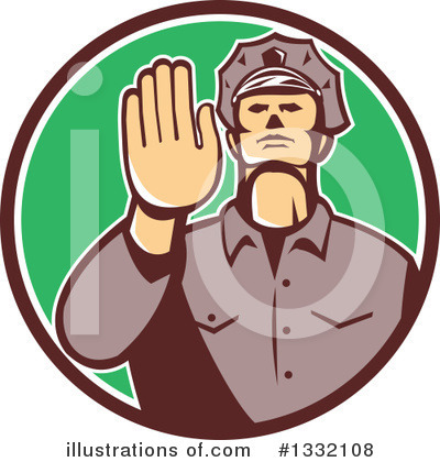 Police Officer Clipart #1332108 by patrimonio