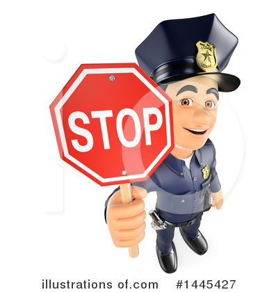 Police Officer Clipart #1445427 by Texelart