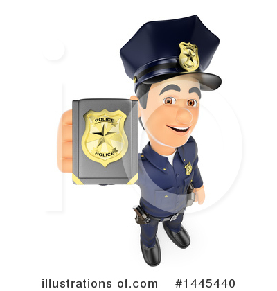 Royalty-Free (RF) Police Officer Clipart Illustration by Texelart - Stock Sample #1445440