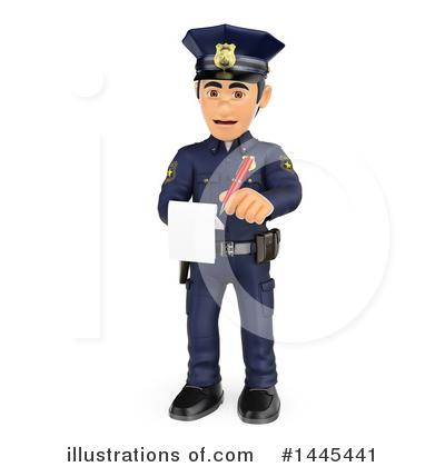 Police Officer Clipart #1445441 by Texelart