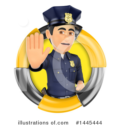 Police Officer Clipart #1445444 by Texelart