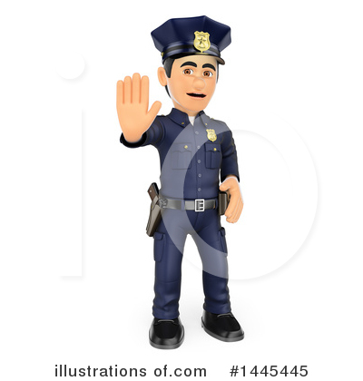 Police Officer Clipart #1445445 by Texelart