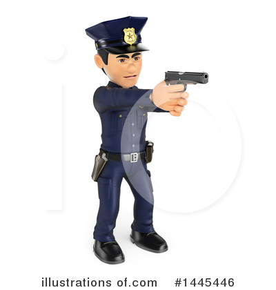Police Officer Clipart #1445446 by Texelart