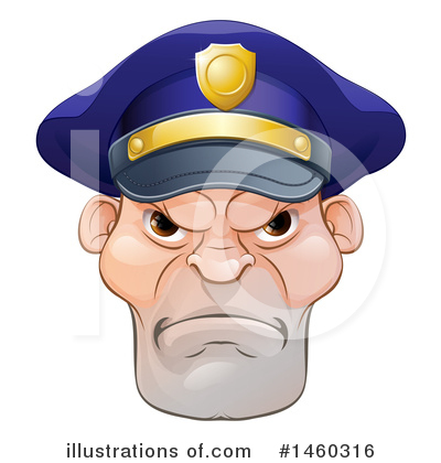 Royalty-Free (RF) Police Officer Clipart Illustration by AtStockIllustration - Stock Sample #1460316