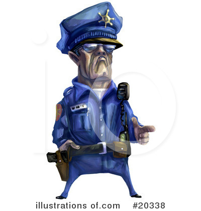 Royalty-Free (RF) Police Officer Clipart Illustration by Tonis Pan - Stock Sample #20338