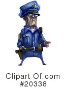 Royalty-Free (RF) Police Officer Clipart Illustration #20338