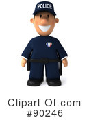 Police Toon Guy Clipart #90246 by Julos