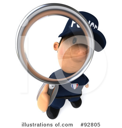 Police Toon Guy Clipart #92805 by Julos