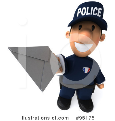 Police Toon Guy Clipart #95175 by Julos