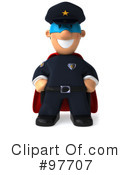 Police Toon Guy Clipart #97707 by Julos