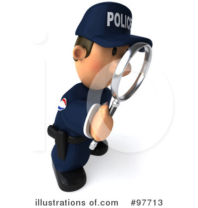 Royalty-Free (RF) Police Toon Guy Clipart Illustration by Julos - Stock Sample #97713