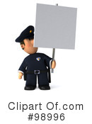 Police Toon Guy Clipart #98996 by Julos