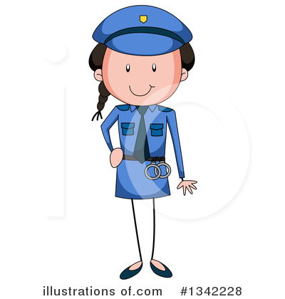 Royalty-Free (RF) Police Woman Clipart Illustration by Graphics RF - Stock Sample #1342228