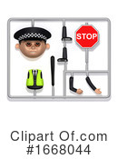 Policeman Clipart #1668044 by Steve Young