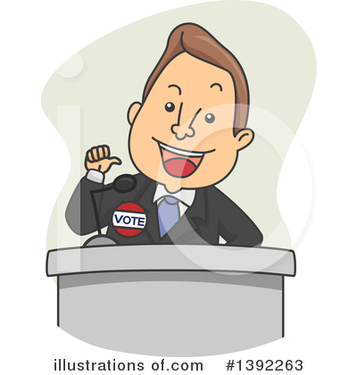 Politician Clipart #1392263 by BNP Design Studio