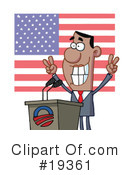 Royalty-Free (RF) Politician Clipart Illustration #19361