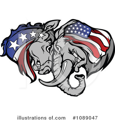 American Flag Clipart #1089047 by Chromaco