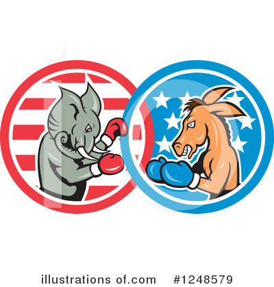 Republican Elephant Clipart #1248579 by patrimonio