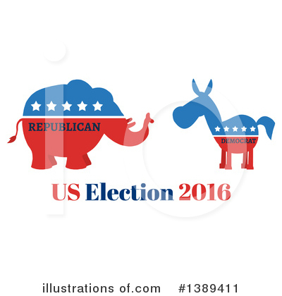Republican Elephant Clipart #1389411 by Hit Toon