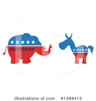 Republican Elephant Clipart #1389413 by Hit Toon